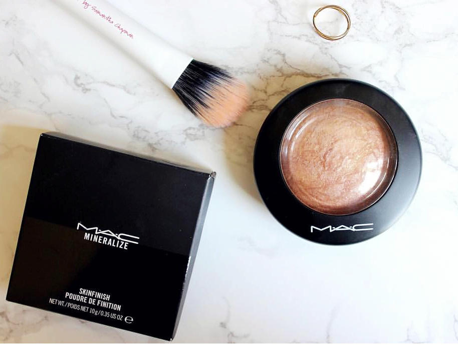 highlighter, soft and gentle, mac, makeup