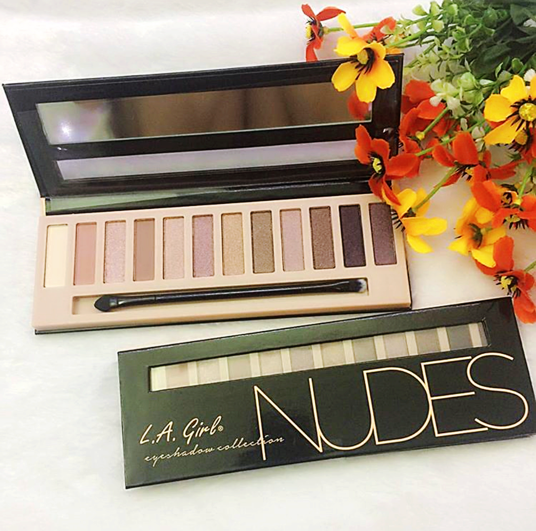 la girl nude eyeshadow palette, nudes, eyeshadow, makeup