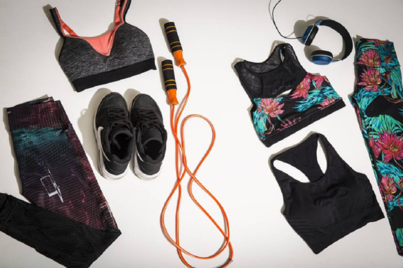 socks,workout pants, shoes, legging, sports bra