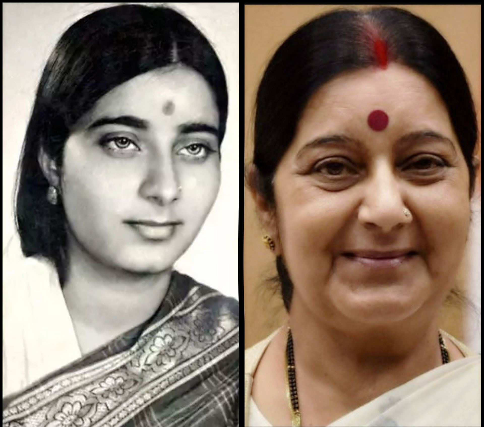 sushma swaraj, Indian Politicians, politics, unseen pictures, rare pictures,vintage pictures of Indian Politicians