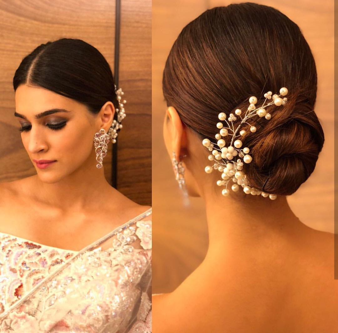 Kriti Sanon, hairstyles, best hairstyles, kriti sanon hairstyles, sleek low bun